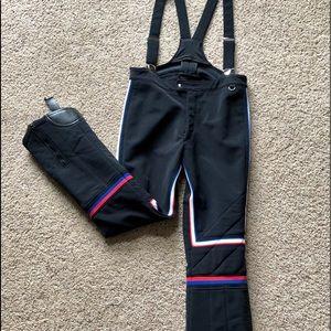 Vintage Obermeyer Unisex Wool Ski Pants Bibs 34L
